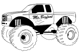 coloring page monster truck higher education bus coloring