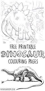 dinosaur colouring pages free printable scene free