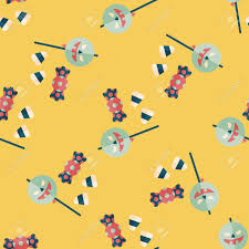kids halloween candy background halloween candy flat icon eps10 seamless pattern background