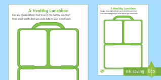 lunch box planner template lunch box template healthy lunchbox healthy eating pshe