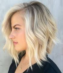 blonde hair is usually thinner great blonde would blend well with grays short a line blonde bob