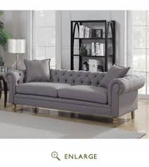 Linen Chesterfield Sofa Collection Contemporary Linen Fabric Upholstered Button Tufted