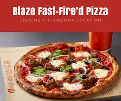cuisine az pizza blaze fast d pizza opening 6th arizona location