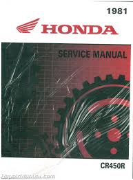 1981 Honda Cr450r Elsinore Motorcycle Owners Manual