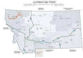 Glacier Park Map Glacier Country Ultimate Ski Trip