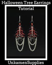 beginner earrings chainmaille tutorial tree earrings simple enough for