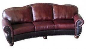 western leather sofa curved leather couches foter