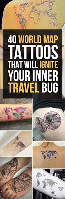 Oklahoma travel tattoos images 40 world map tattoos that will ignite your inner travel bug jpg