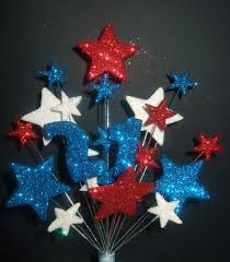 number age 21st birthday cake topper in red white u0026 blue postage