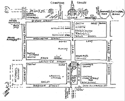 Lafayette Indiana Map Downtown History
