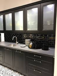 Solid Kitchen Cabinets White Kitchen Cabinets With Glass Door Black Island With Solid