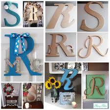 wood letter decorations flairy tales