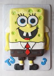 spongebob cake and smash cake rose bakes