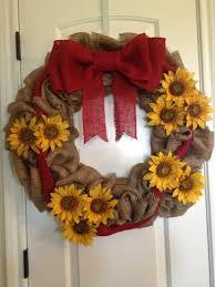 best 25 sunflower burlap wreaths ideas on diy