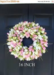 wreath door wreath easter wreath tulip wreath sizes