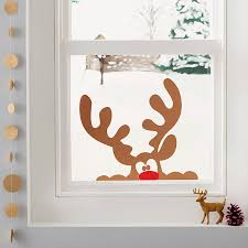 peeping reindeer window sticker decal wall zoom