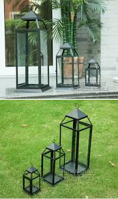 Modern Floor Candle Holders by Aliexpress Com Buy Simple Modern Glass Iron Lantern Lantern