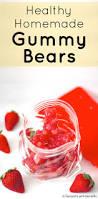 healthy homemade strawberry gummy bears sugar free desserts