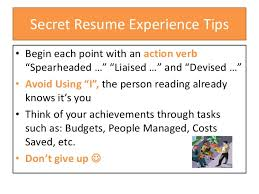 Resume With Bullet Points How To Write Your Professional Experience On Your Resume