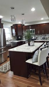 Kitchen Sink With Backsplash Tile Backsplash Patterns Dark Wood Cabinets Stone Backsplash