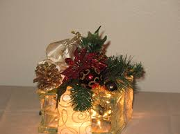 christmas glass block my craft creations pinterest christmas