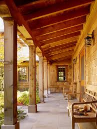 cedar porch posts deck craftsman with outdoor ceiling fan metal