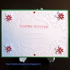 Embossed Invitation Cards Color Conceptions Embossed Cards