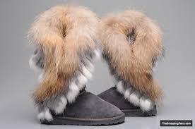 womens ugg boots fox fur fashion for