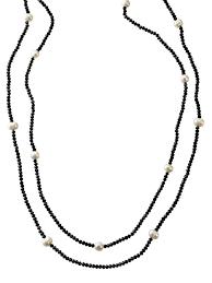 swarovski necklace set images Black bead and pearl necklaces set dog house pearls jpg