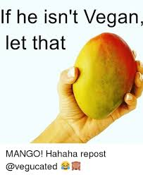 Mango Meme - if he isn t vegan let that mango hahaha repost meme on me me