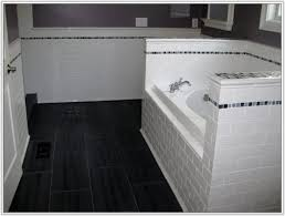 gray subway tile in bathroom tiles home decorating ideas