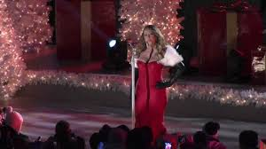mariah carey performs at rockefeller center for the christmas tree
