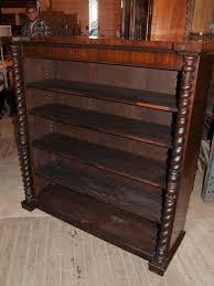 Bookcase Mahogany Victorian Mahogany Bookcase Barley Twist Rustic Furniture Ebay