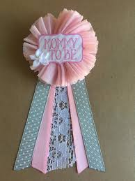 pink baby shower mommy to be pin baby shower pin flower ribbon