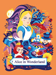 alice wonderland u2014 book cover sneaky raccoon