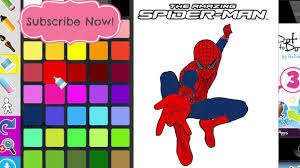 coloring book spiderman coloring games speedcoloring marvel heroes
