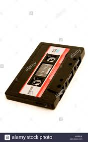 maxell cassette an c90 maxell cassette on a white background stock photo