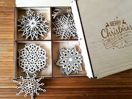 remarkable design tree ornament sets wooden snowflake