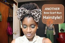323 whoissugar another bow scarf bun hairstyle youtube