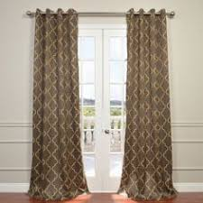 Seville Curtains 84 Inch Gold Moroccan Curtains Panel Pair Set Brown