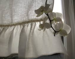 Linen Cafe Curtains Linen Cafe Curtains Etsy