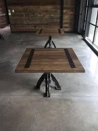 Modern Industrial Desk Modern Industrial Desk With Custom Leather Signature Pad The