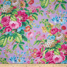 kaffe fassett floral delight lavender yellow shades grey yellow