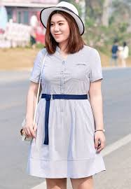 slim waist plus size strip dress with belt plus size clothes