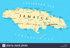 Jamaica Map Jamaica Political Map With Capital Kingston Important Cities And