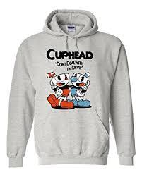 amazon com noveltyboy cuphead costume grey hoodie cuphead don u0027t