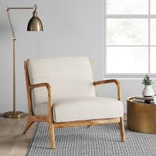 Large Accent Chair For A Touch Of Modern Sophistication Place The Esters Wood Arm
