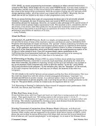 Music Manager Resume Polansky Miscellaneous Program Notes
