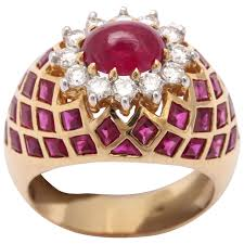 ruby rings sale images Cabochon ruby diamond gold ring for sale at 1stdibs jpg