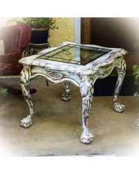 distressed white side table great deals on sold french country antique end table distressed